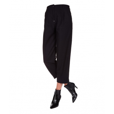 Pantaloni chino con inserto Lurex Black