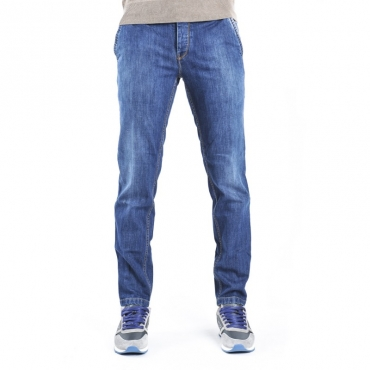 Jeans slim fit tasche a filo bagno medio scuro DENIM