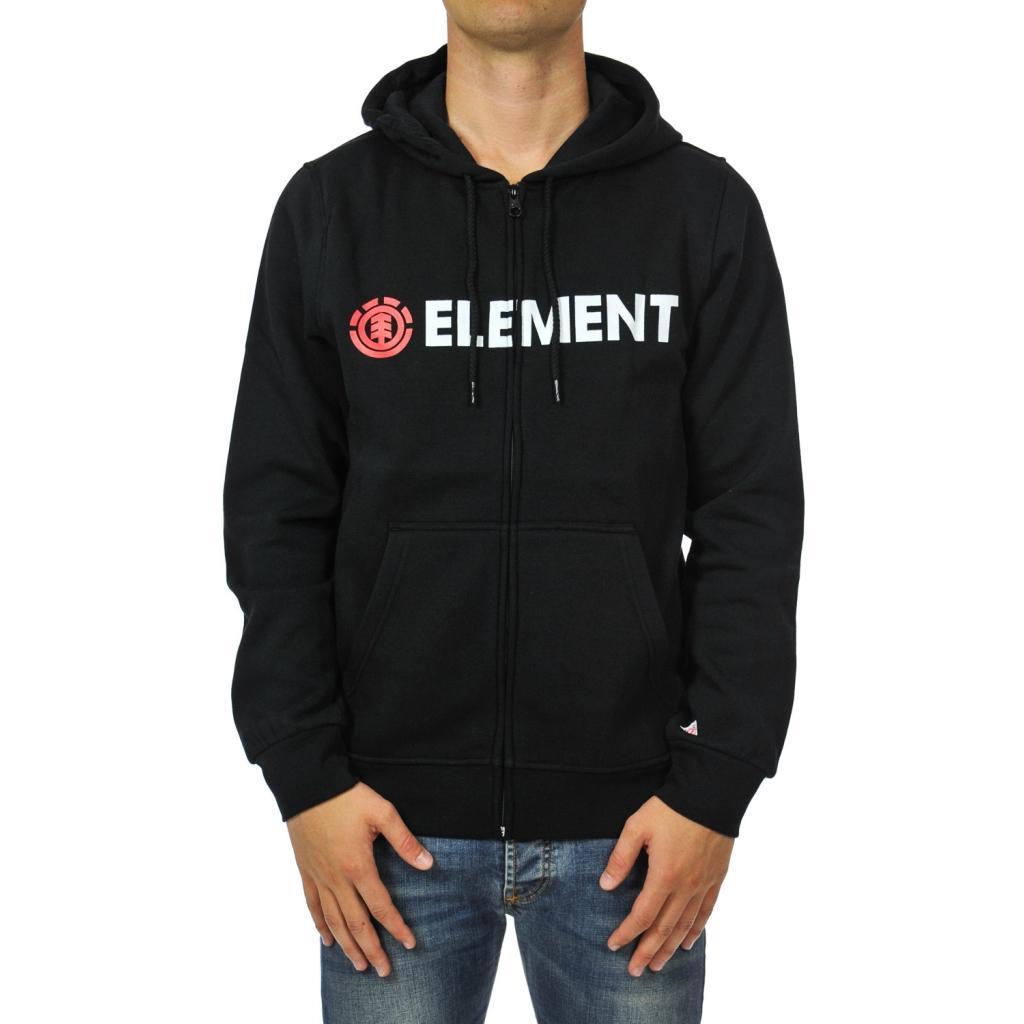 detailing c59e2 0f096 ELEMENT - Felpa uomo zip e cappuccio FLINT BLACK - Felpe |Bowdoo.com