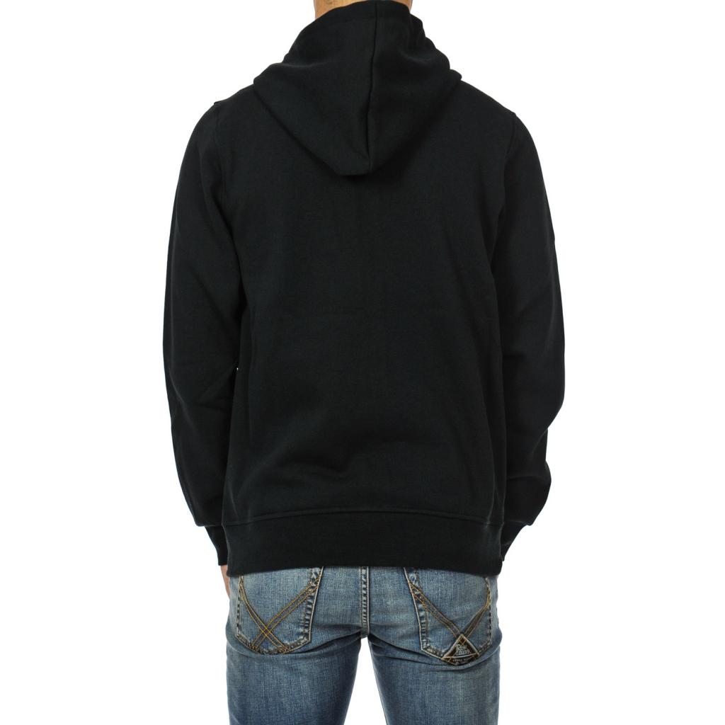 Felpa uomo zip e cappuccio FLINT BLACK