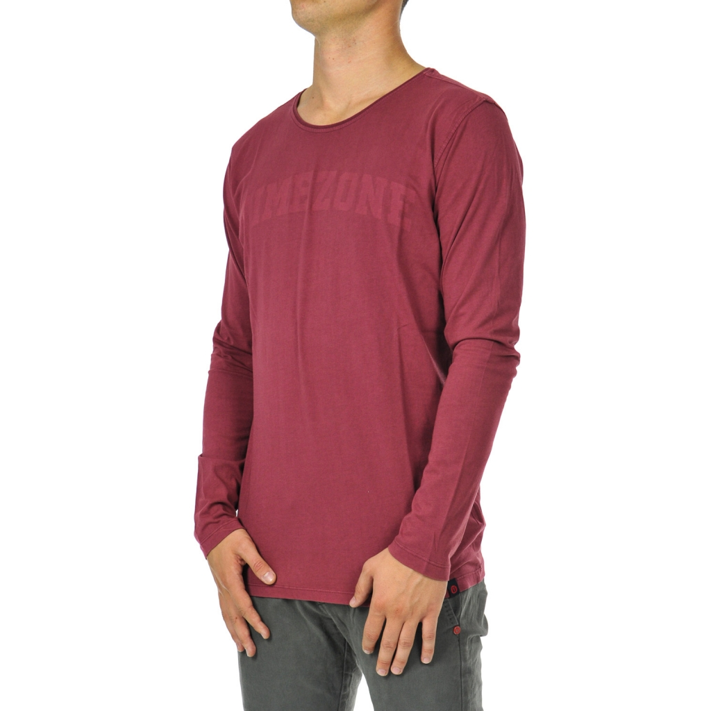 T-shirt uomo manica lunga portwine red