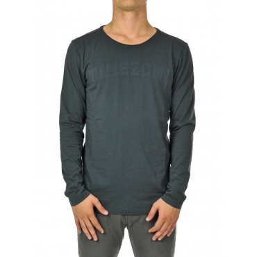 T-shirt uomo manica lunga deep anthra grey
