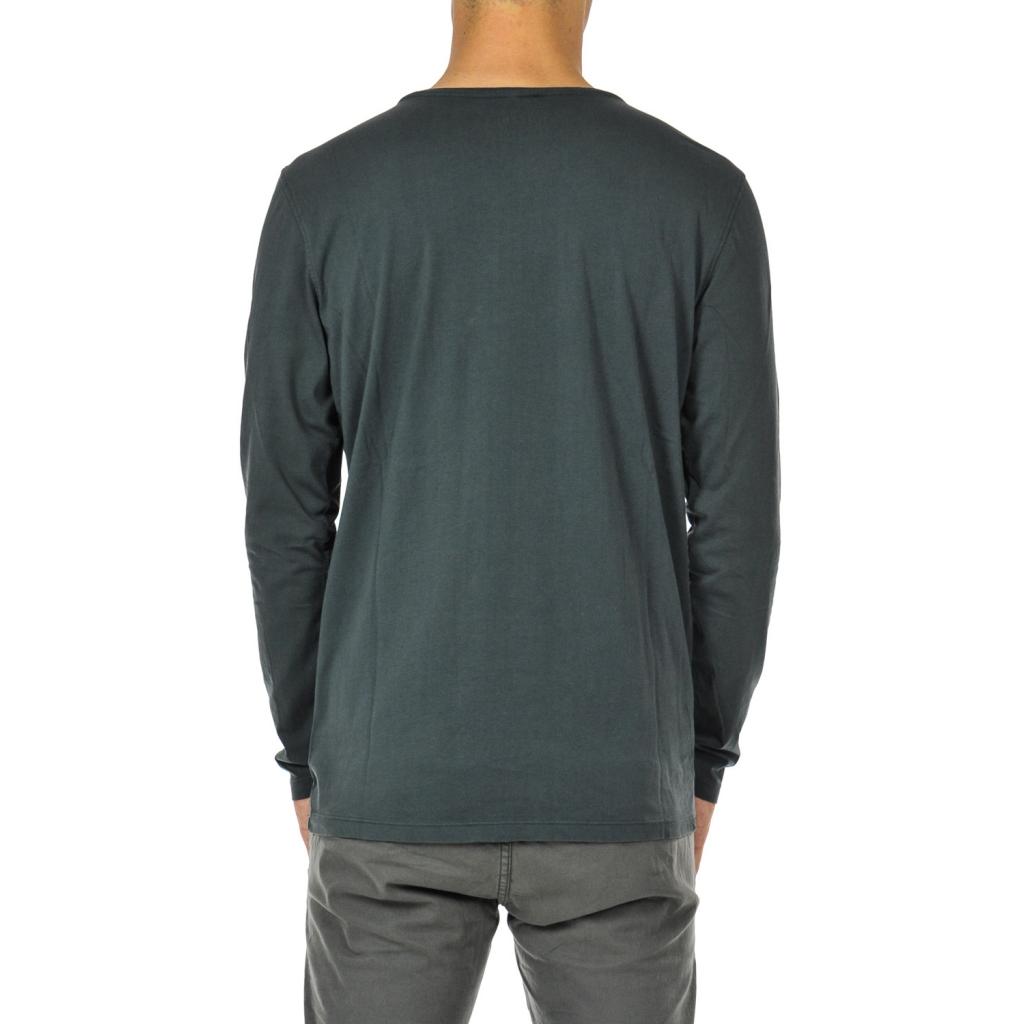T-shirt uomo manica lunga deep anthra grey
