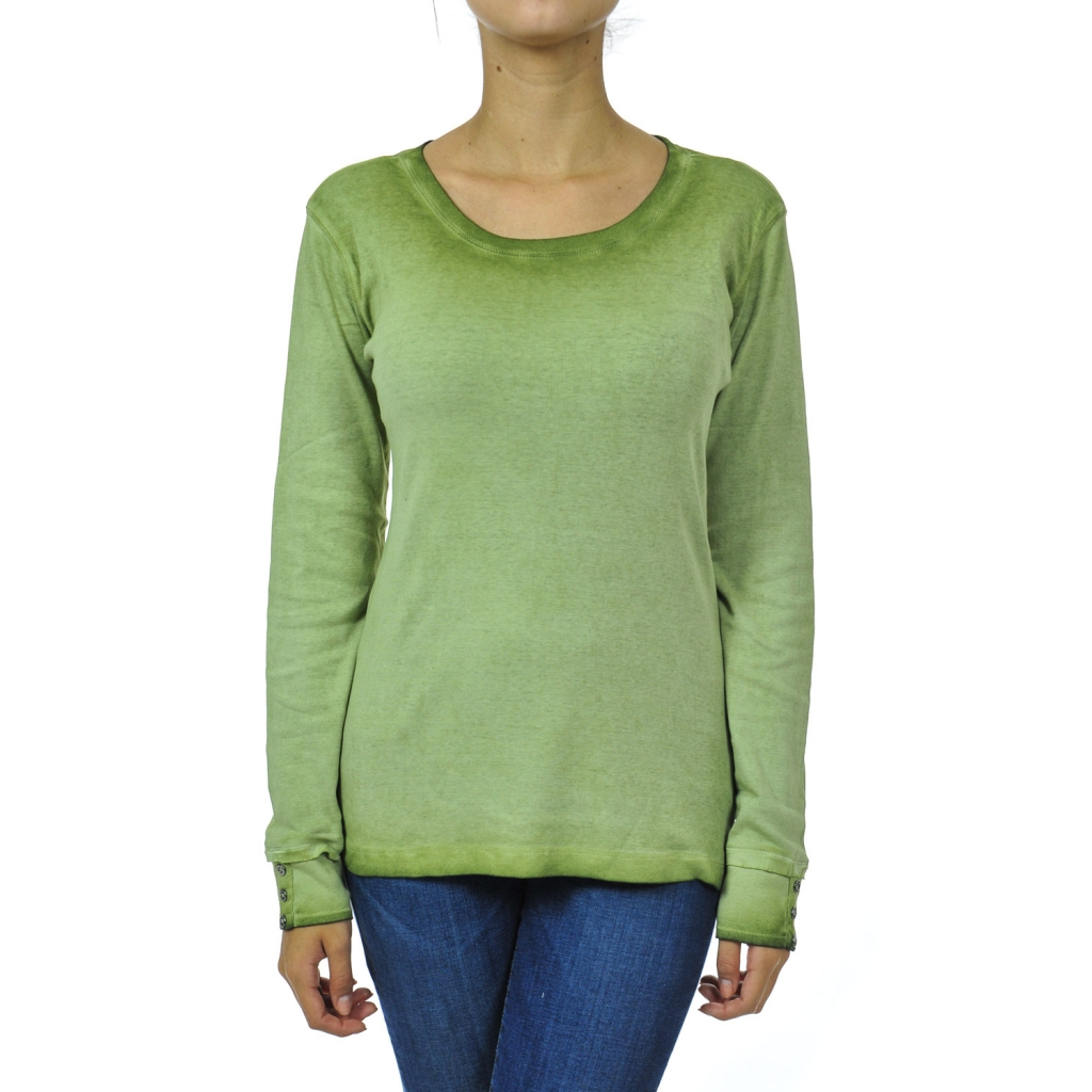 b0b7136e53 Women's long-sleeved pine green t-shirt | Bowdoo.com