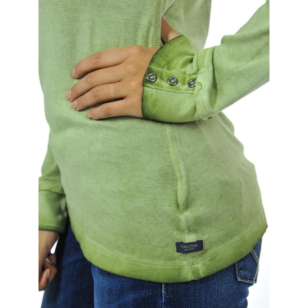 T-shirt donna manica lunga pine green