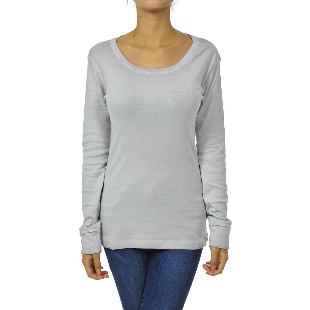 T-shirt donna manica lunga old rose