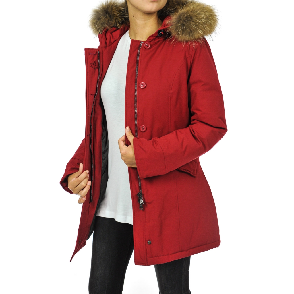 Fundy Bay Woman Jacket In Chili Pepper Feather Bowdoo Com