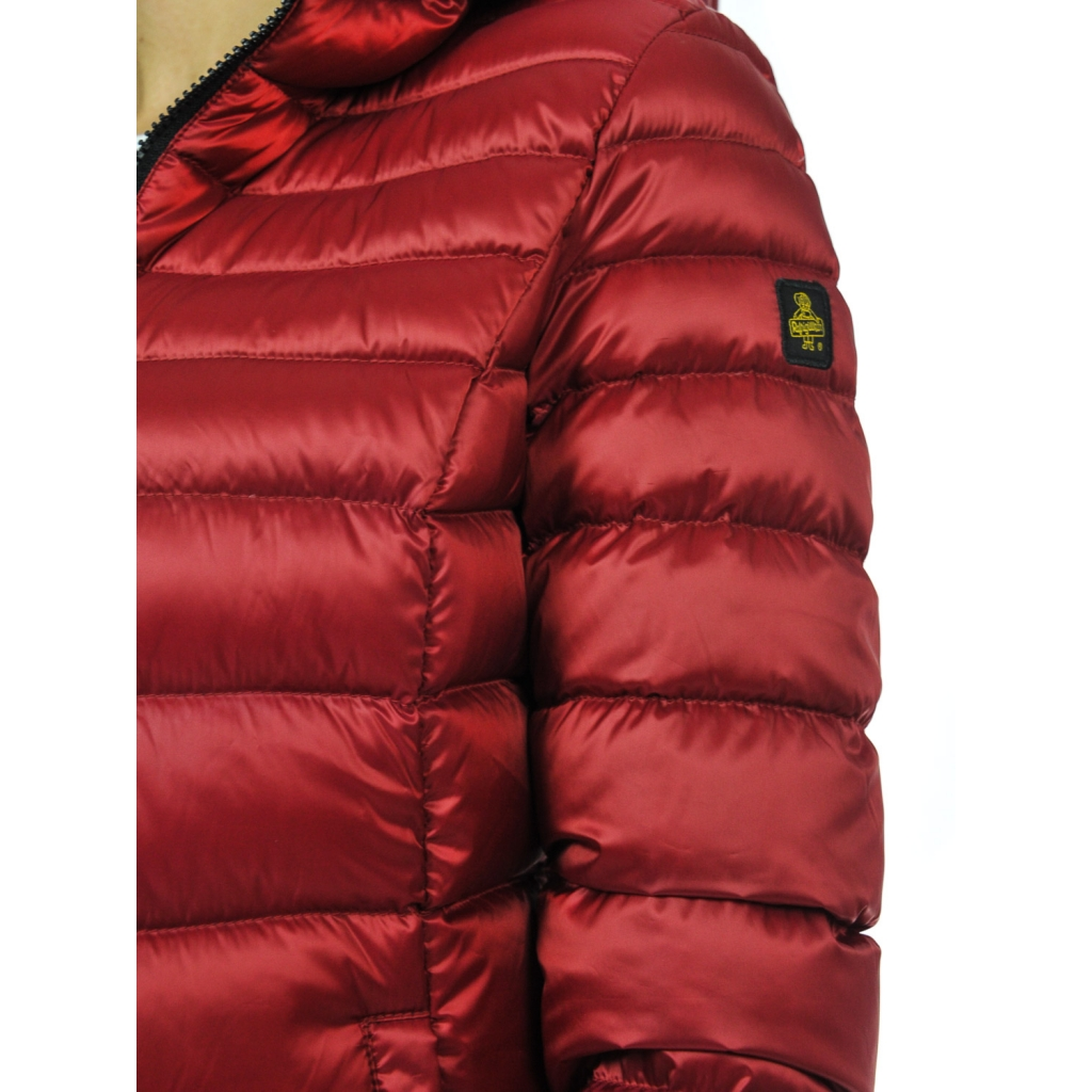differently 489ca 262ec Mead woman down jacket with RED hood