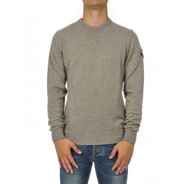 Maglia uomo girocollo lana Tortora
