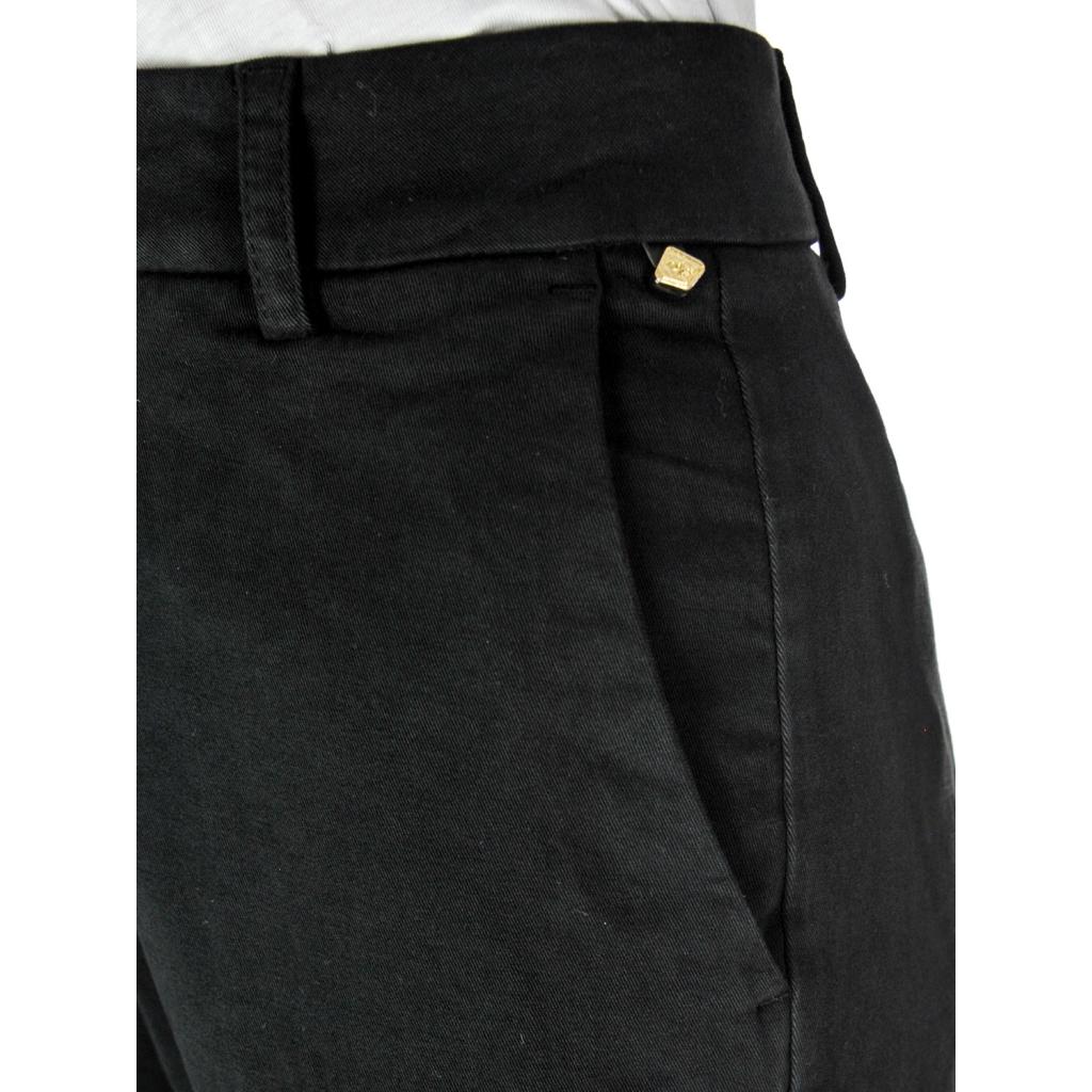 Pantalone donna gaucho 7/8 vita alta Nero