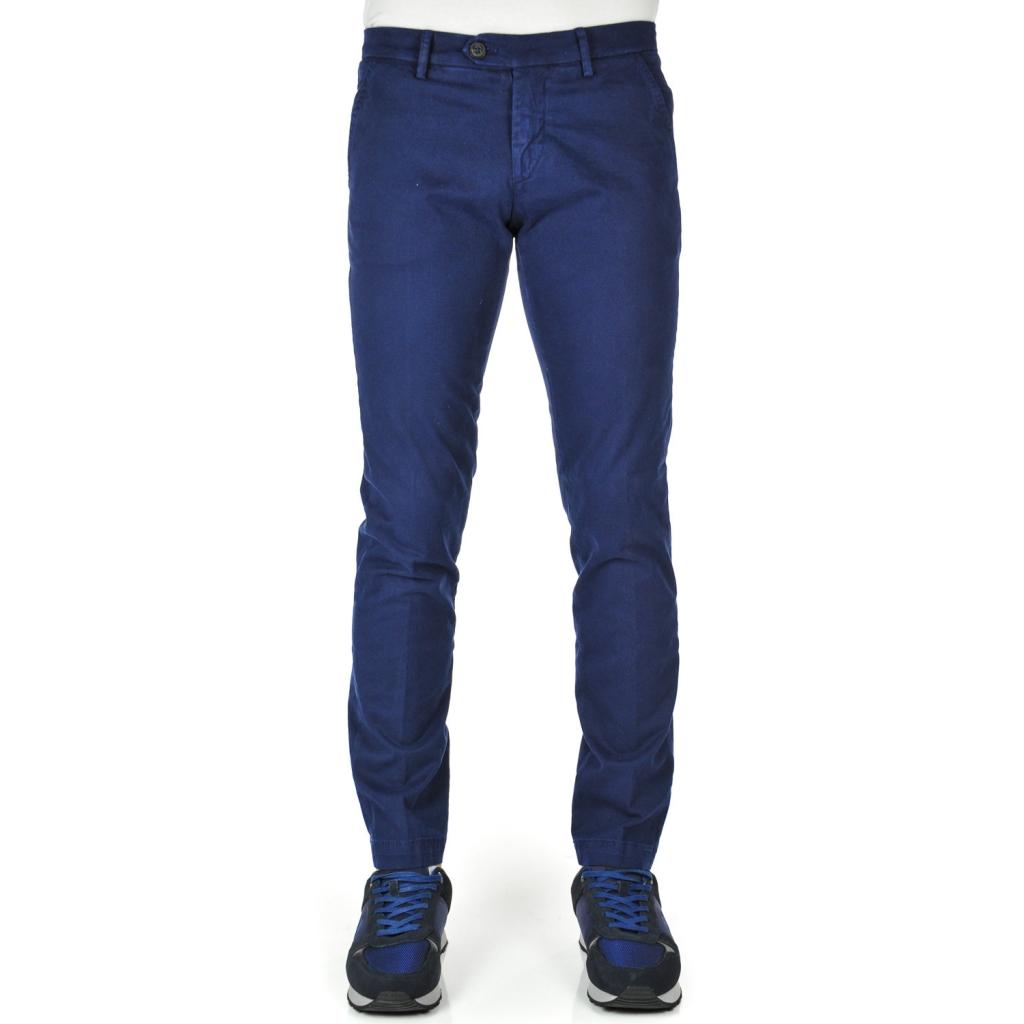 Pantalone uomo chino slim fit Indaco