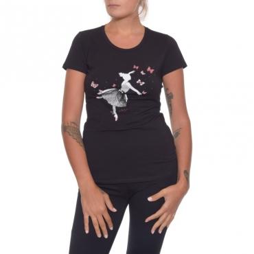 T-shirt manica corta NERO
