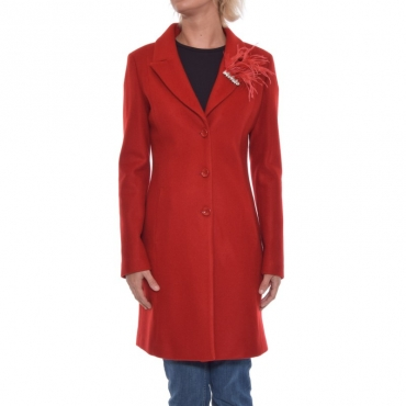 Cappotto basico panno FEEL ROUGE SPILLA