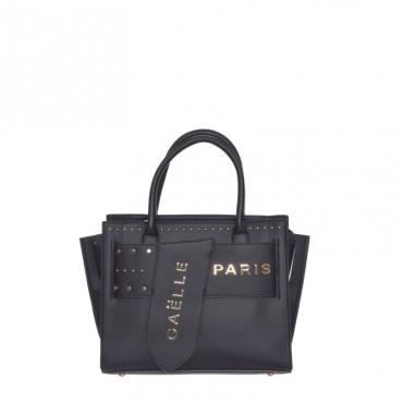 Shopping borchie + fibbia NERO