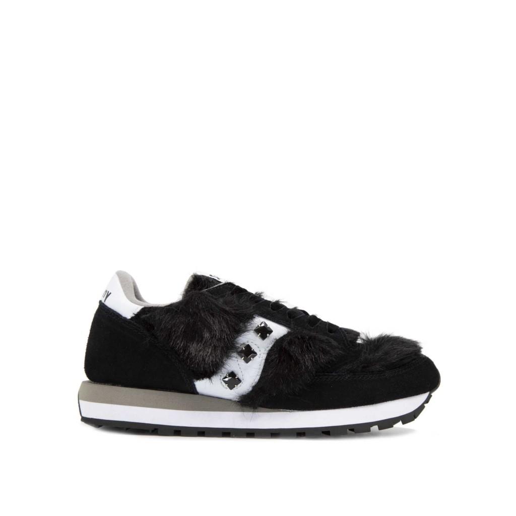 878c10fdff Saucony Originals - Sneakers Jazz Originals nere con inserti in pel...