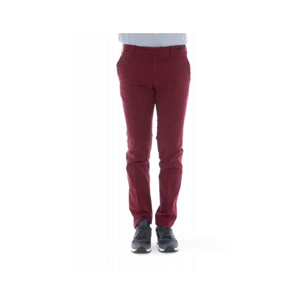 Pantalone uomo - Cpdt01z tt02 super slim gabardina strech 0648 - Rosso