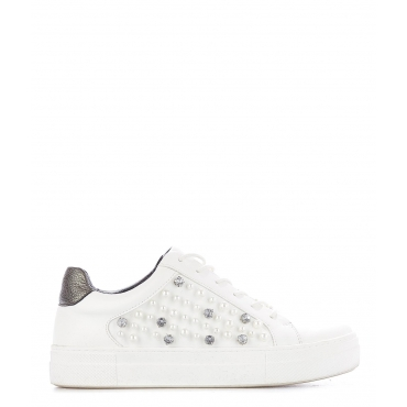 Sneakers con perline White