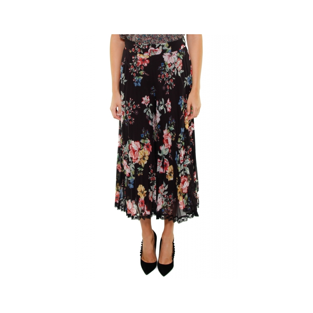 save off d55d0 6944b TWIN SET - GONNA PANTALONE IN GEORGETTE NERO - Donna |Bowdoo.com