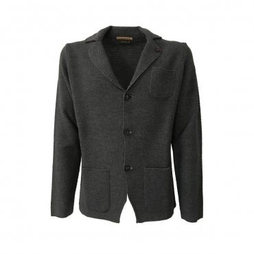FERRANTE giacca uomo grigio con bottoni e tasche mod U17206 50 lana 50 acrilico MADE IN ITALY UNICO