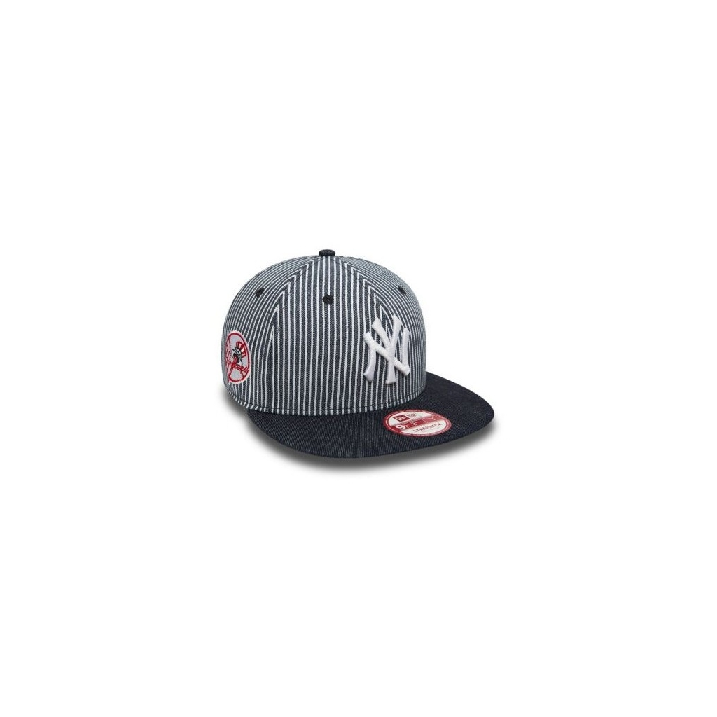 CAPPELLO STRAPBACK NEW ERA CAP STRAPBACK MLB NEW YORK YANKEES PINSTRIPE  Denim White unico 1846aece4299