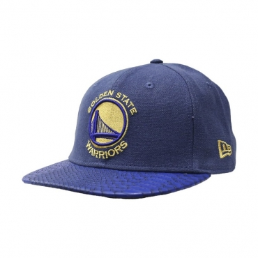CAPPELLO FITTED NEW ERA CAP FITTED NBA GOLDEN STATE WARRIORS TEAM PU CANVAS DarkRoyal/Yellow unico
