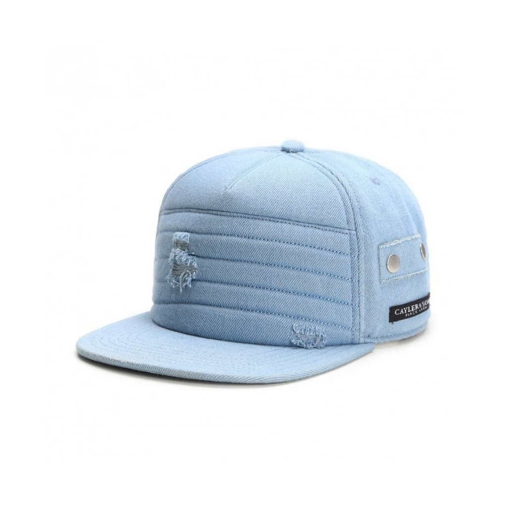 CAPPELLO STRAPBACK CAYLER  SONS CAP STRAPBACK SIDE ZIP MOTO LightDenim unico