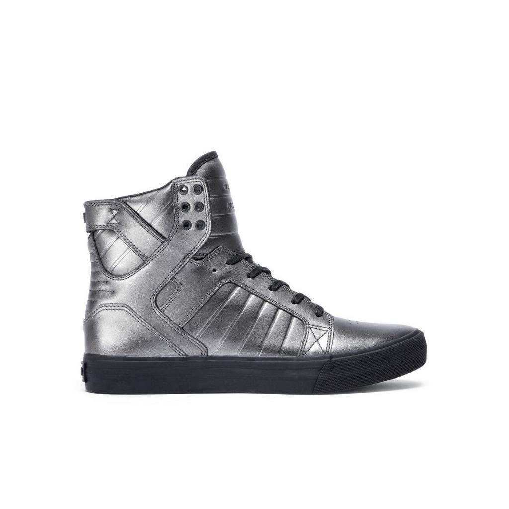 Shoes High Supra Shoes Skytop Hf Gunmetal Black Unique Bowdoo Com