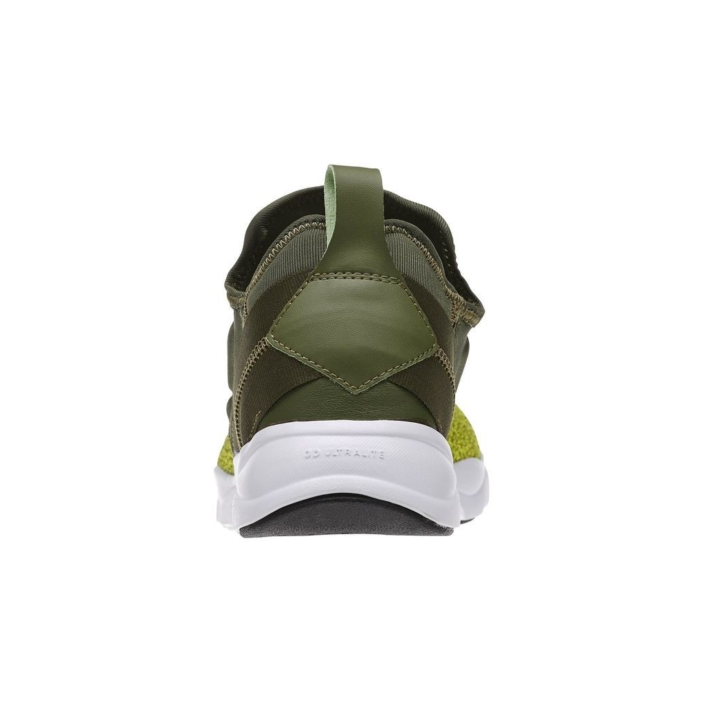 SCARPA BASSA REEBOK SHOES FURYLITE SLIP-ON KNIT Green/Hypergreen/White unico