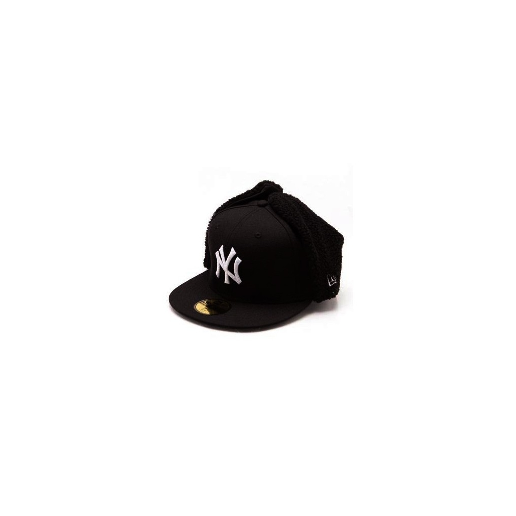 CAPPELLO FITTED NEW ERA CAP FITTED DOGEAR MLB NEW YORK YANKEES BASIC Black/White unico