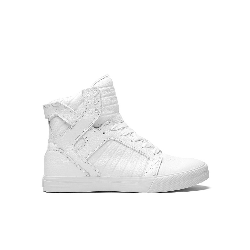 SHOES HIGH SUPRA SHOES SKYTOP SHOES White / White unique