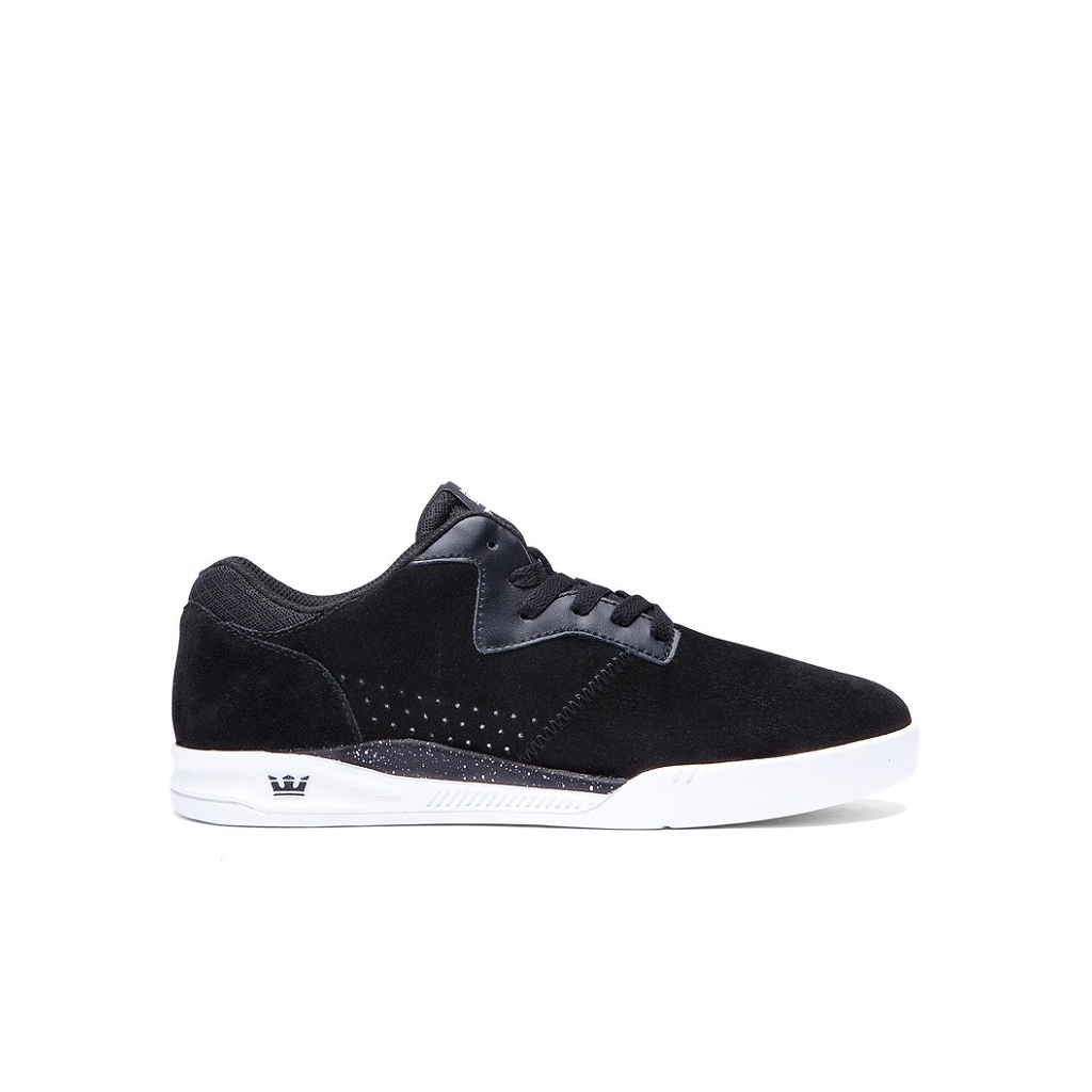 SCARPA BASSA SUPRA SHOES QUATTRO LOW Black/White unico