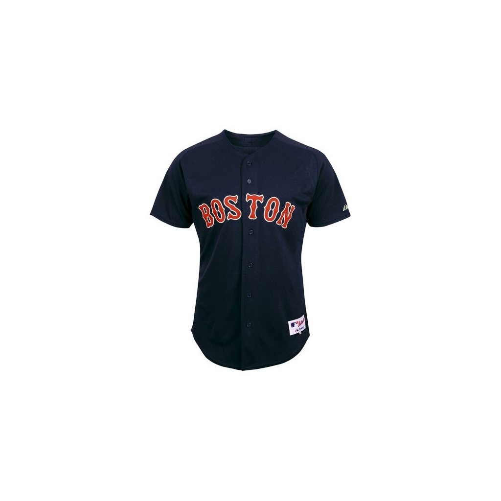 CASACCA MAJESTIC BASEBALL JERSEY ON-FIELD MLB BOSTON RED SOX AWAY Blue Red  unico ... 3a77ab9f809