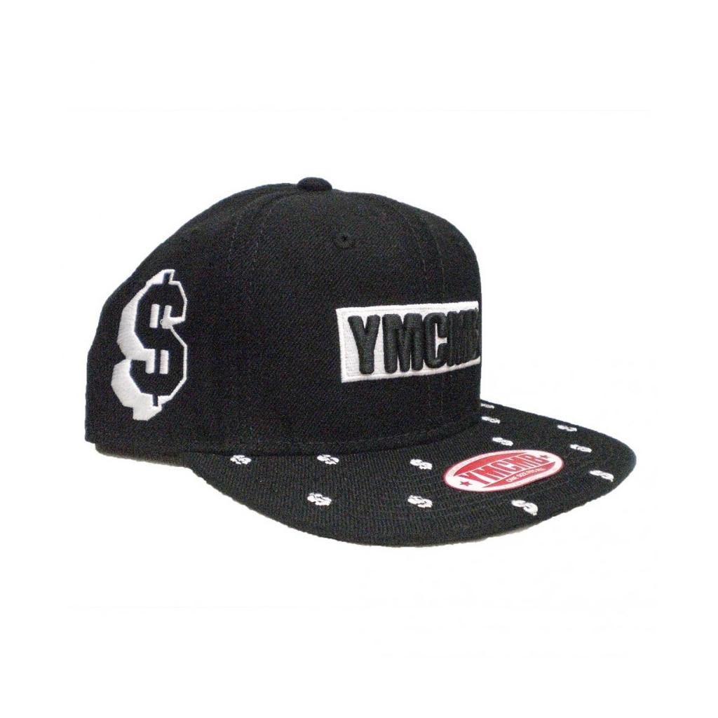 CAPPELLO SNAPBACK YMCMB CAP SNAPBACK DOLLA SIGN Black/White unico