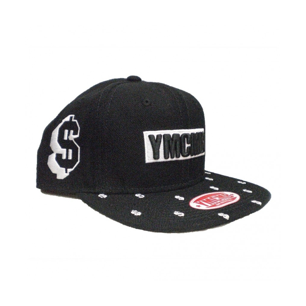 CAPPELLO SNAPBACK YMCMB CAP SNAPBACK DOLLA SIGN Black/White unico