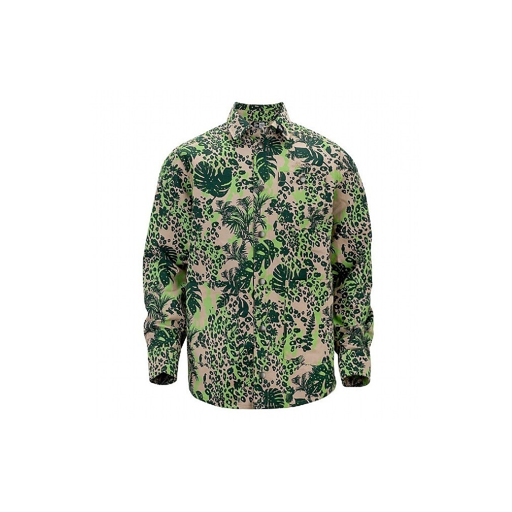 GIUBBOTTO NEW ERA SHIRT L/S/JACKET JUNGLE ALL OVER Lime Green unico