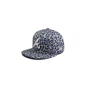 CAPPELLO FITTED NEW ERA CAP FITTED MLB ATLANTA BRAVES WILD Heather Light Navy unico