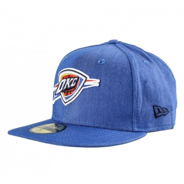 CAPPELLO FITTED NEW ERA CAP FITTED NBA OKLAHOMA CITY THUNDER COLDEN Denim unico