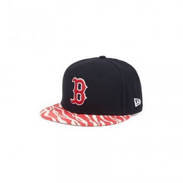 CAPPELLO STRAPBACK NEW ERA CAP STRAPBACK MLB BOSTON RED SOX ANIMAL VISOR Navy/Red unico