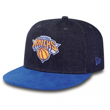 CAPPELLO FITTED NEW ERA CAP FITTED NBA NEW YORK KNICKS DENSUEDE Denim/Royal unico