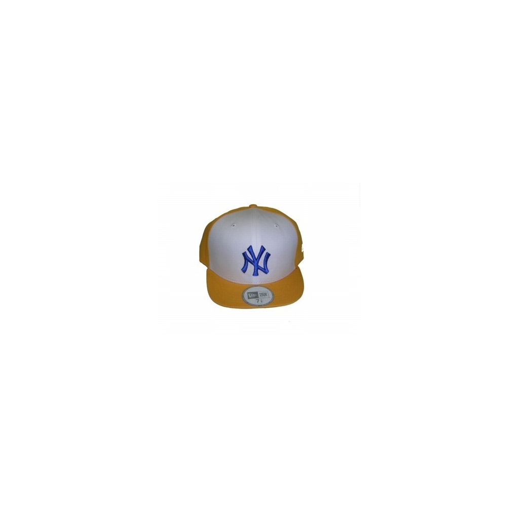 01a1f17c9a3 HAT FITTED NEW ERA CAP FITTED MLB NEW YORK YANKEES UMPIRE Yellow   White    Navy unique
