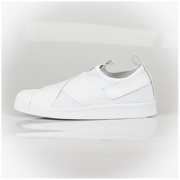 SCARPA BASSA W SUPERSTAR SLIP ON BIANCO/BIANCO