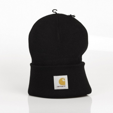 BERRETTO LANA ACRYLIC WATCH HAT BLACK
