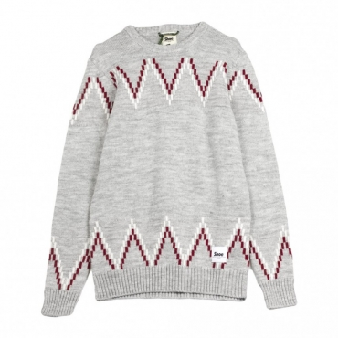 MAGLIONE FANTA CHEVRON HEATHER GREY