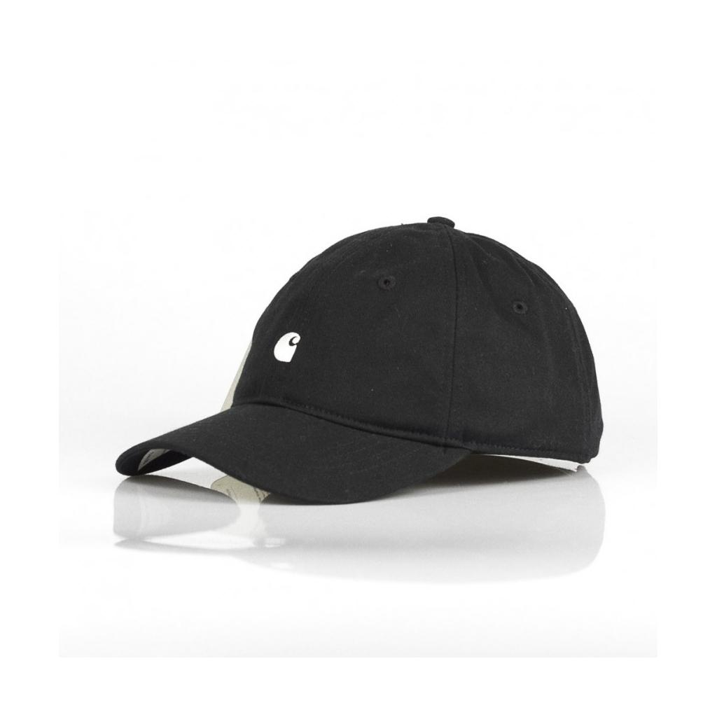 CARHARTT - CAPPELLO VISIERA CURVA MADISON LOGO CAP BLACK WHITE - Vi ... 4bdb8ad0abed