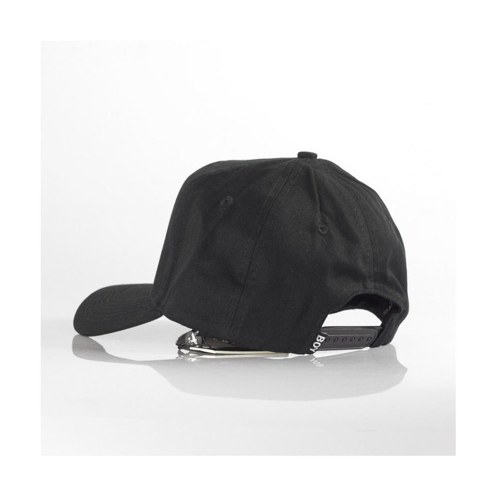 BOY LONDON - CAPPELLO VISIERA CURVA EAGLE CAP BLACK WHITE - Visiera ... c9b4ed403fdb