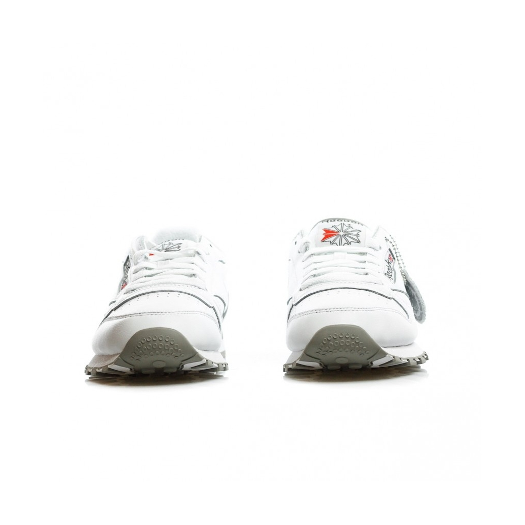 SCARPA BASSA CL LEATHER ARCHIVE WHITE/CARBON/RED/GREY