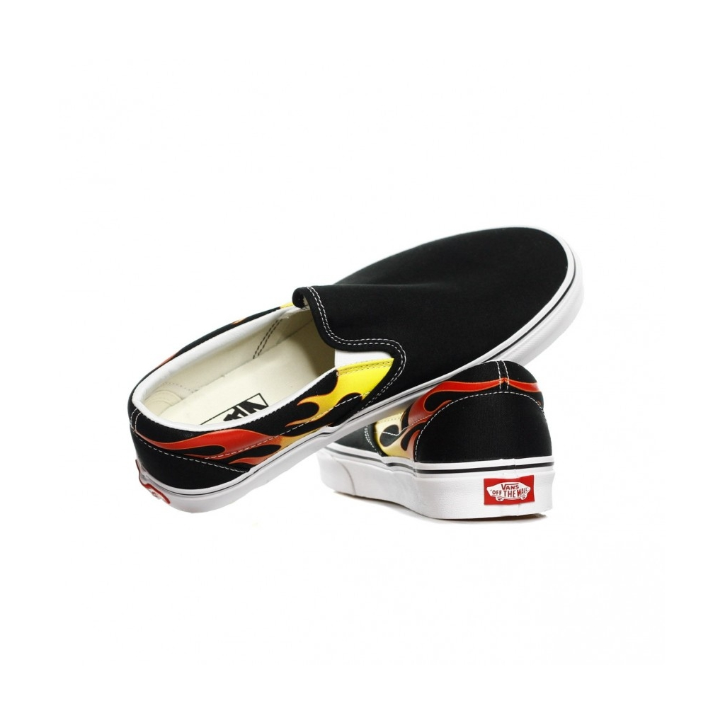 SCARPA BASSA CLASSIC SLIP-ON FLAME BLACK/BLACK/WHITE