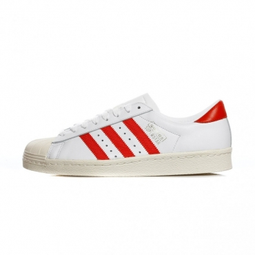 SCARPA BASSA SUPERSTAR OG WHITE/CORE RED/OFF WHITE
