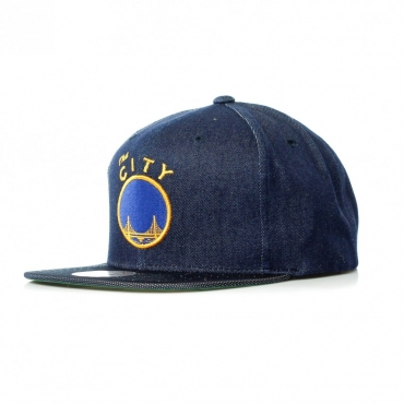 CAPPELLO SNAPBACK RAW DENIM SAFWAR DENIM BLUE
