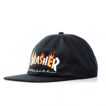 CAPPELLO SNAPBACK FLAME MAG BLACK